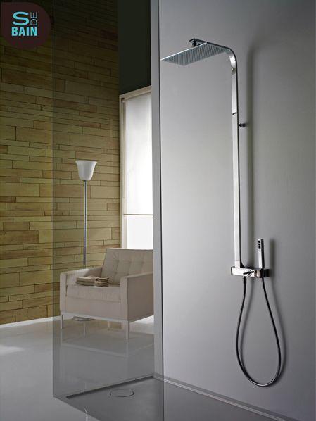 colonne de douche arche 39 avec douche de t te et douchette. Black Bedroom Furniture Sets. Home Design Ideas