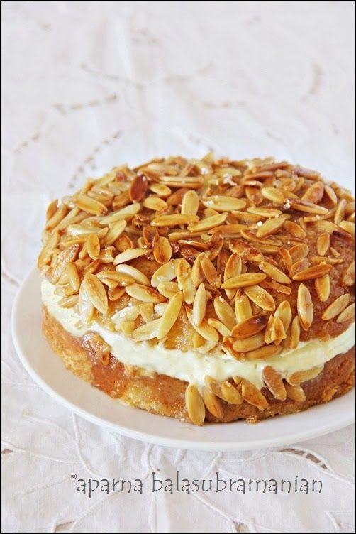 My Diverse Kitchen: We Knead To Bake #12 : Bienenstich Kuchen (German Bee Sting Cake)