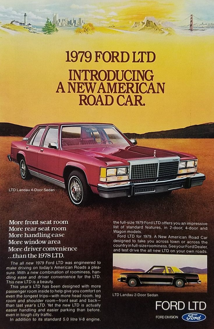 1979 Ford LTD Landau 4 Door Sedan Vintage Ad