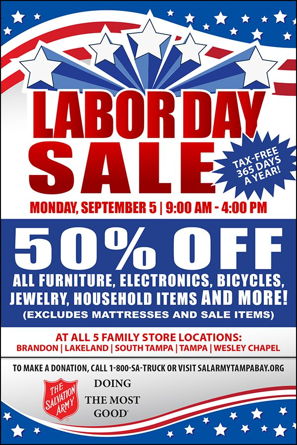 Join Us For #LaborDay! Event Details: