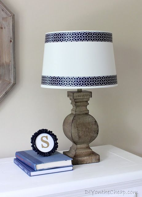 """Just add a simple banding to any lampshade to make it really """"shine""""."""