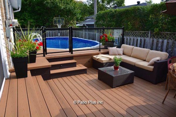 Pool Deck Builders Patio Installation Backyard Pool Backyard