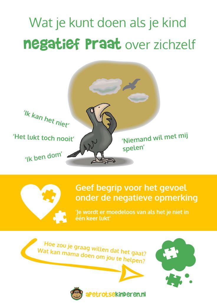 Infographic Reageren op negatieve opmerkingen van je kind