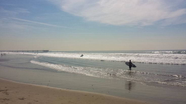 Surfers at the Pacific Ocean, Venice Beach, Los Angeles, California