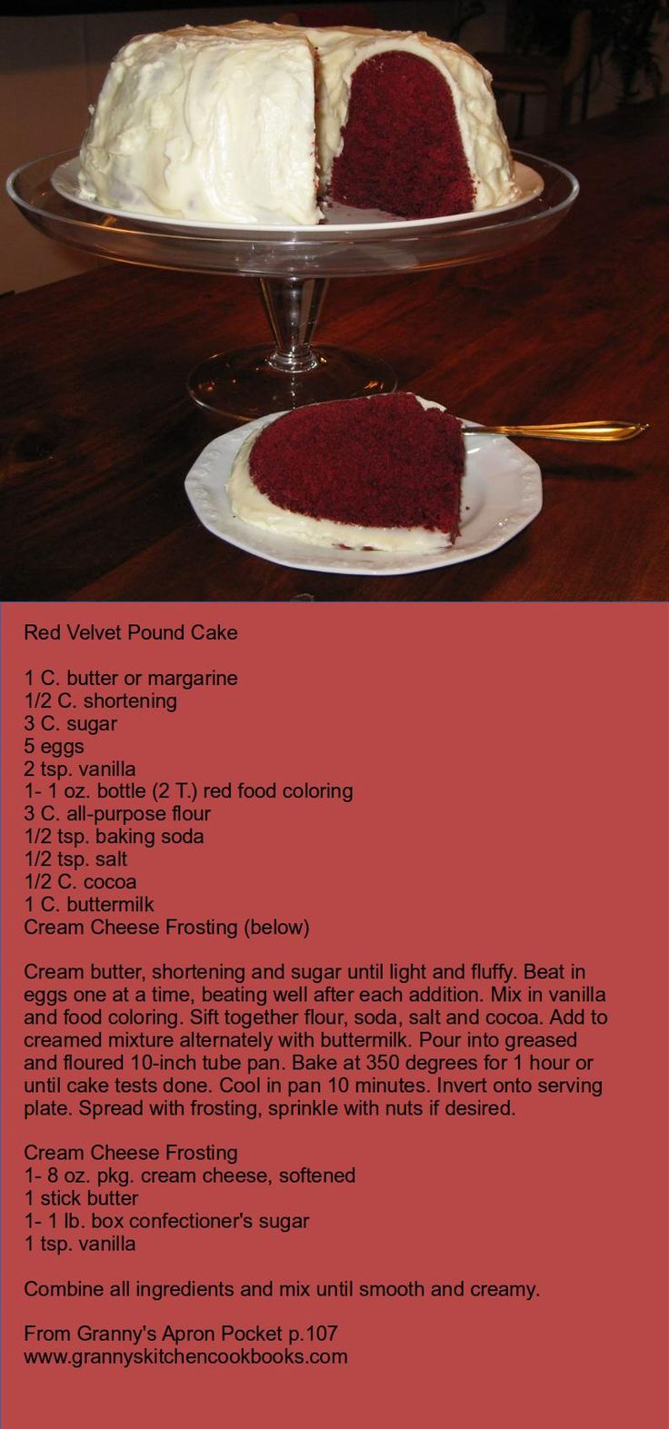 Red Velvet Pound Cake from Granny's Kitchen