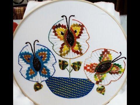 Puntada Mariposas Grandes En Solecitos Parte 1 Con Miky Ru. - YouTube