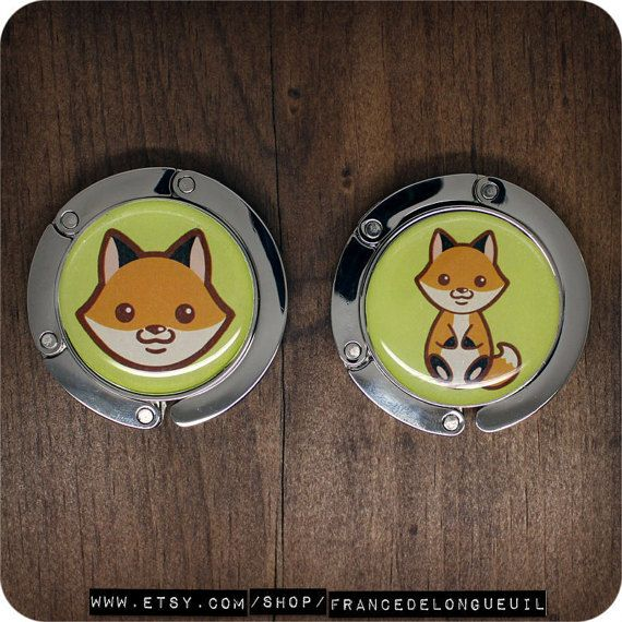 Purse Hanger with cute fox