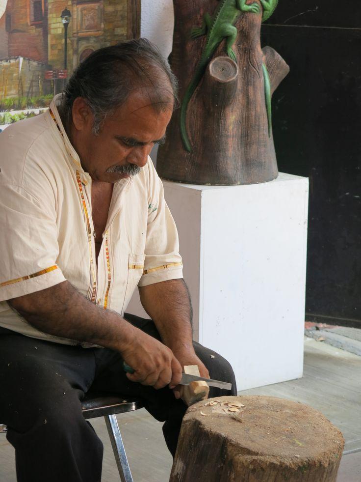 Wood carving. Oaxaca City, Mexico.