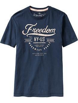 Mens Premium Applique-Graphic Tees $13.00 @ OLD NAVY