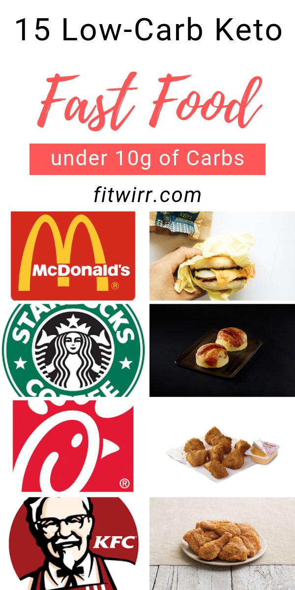 15 Low-Carb Keto Friendly Fast food under 10grams of carbs.  At any fast food re...