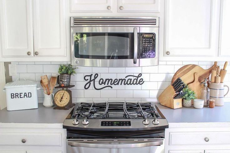 Faux Subway Tile Backsplash
