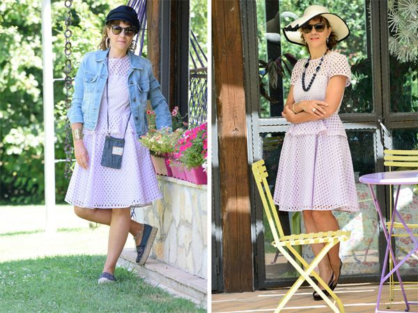 un vestito, molti outfit #outfit #ootd #bananrepublic #lilac #dress #fashion #fashionblgo #fashionblogger #italianfashionblogger #ecostyle #summer #ss2016 #summer2016 #stuartweitzman