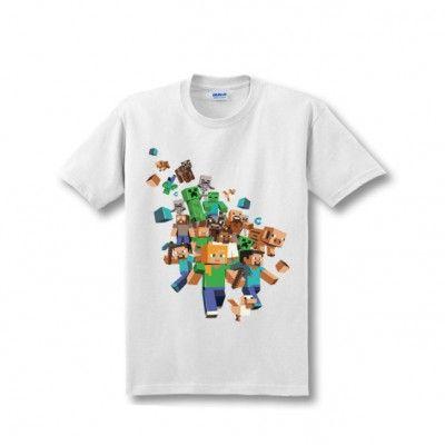 Minecraft Characters Cotton T-Shirt Apparels | IdolStore