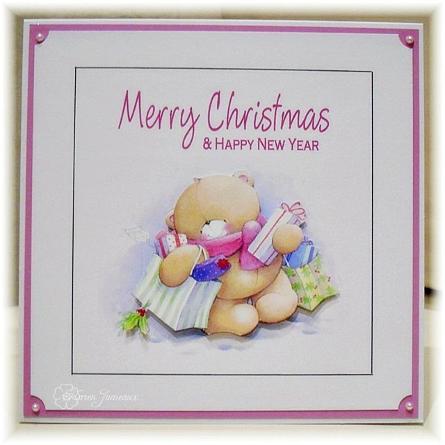 I used the fabulous Forever Friends CD for this very, very simple Christmas card. I had to keep it simple as I printed off around 50 of ...