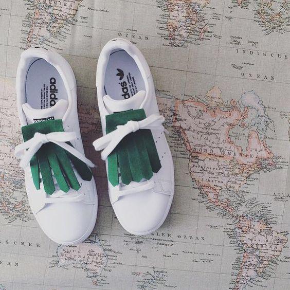 • Kiltie green suède • Adidas Stan Smith •