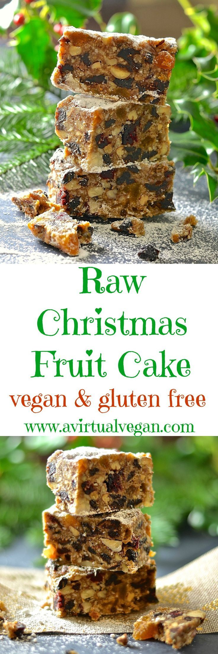 Festive fruit & nut flavours combine in this deliciously rich & moist Raw Christmas Fruit Cake. A fabulous alternative to traditional baked Christmas cake & so easy to make!