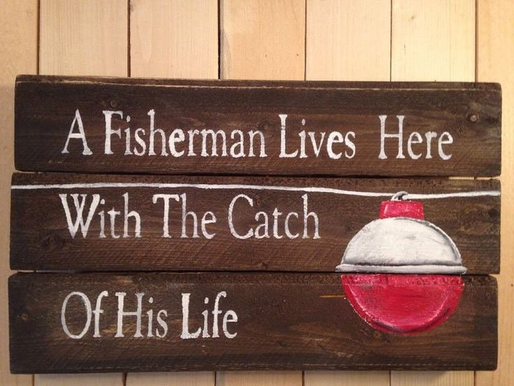 FISHERMAN LODGE HANDMADE Pallet Man Cave  PORCH PRIMITIVE Rustic Country SIGN  | eBay