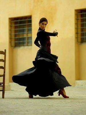 Tome clases de flamenco en España con mi amiga Ella.
