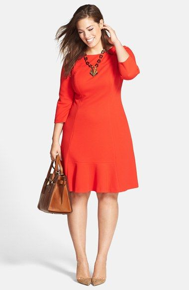 Adrianna Papell Flounce Dress & Accessories (Plus Size) available at #Nordstrom