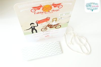 Wedding stationery: Apaixonados pelo Motocross