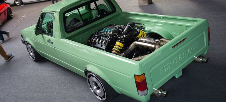 VW Caddy mit Audi V8 im Heck: Extrem-Tuning made in Polen