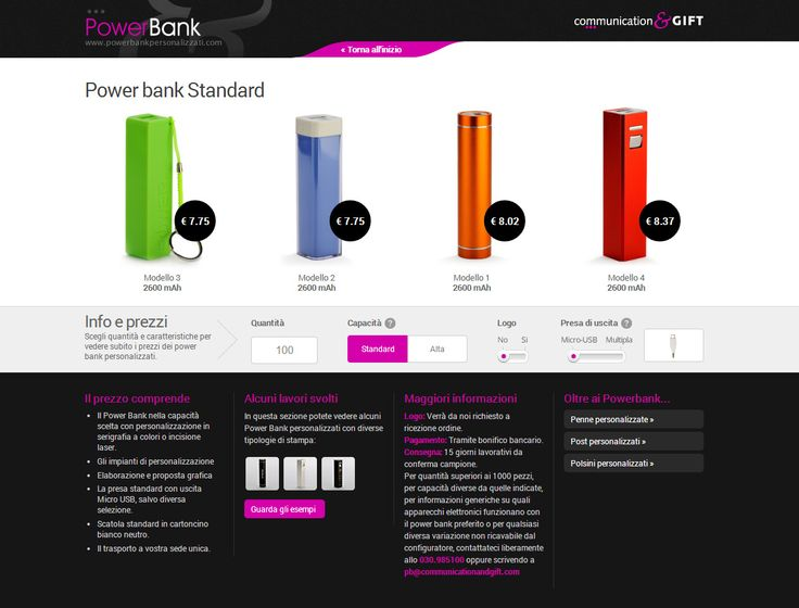 Power Bank Personalizzati www.powerbankpersonalizzati.com