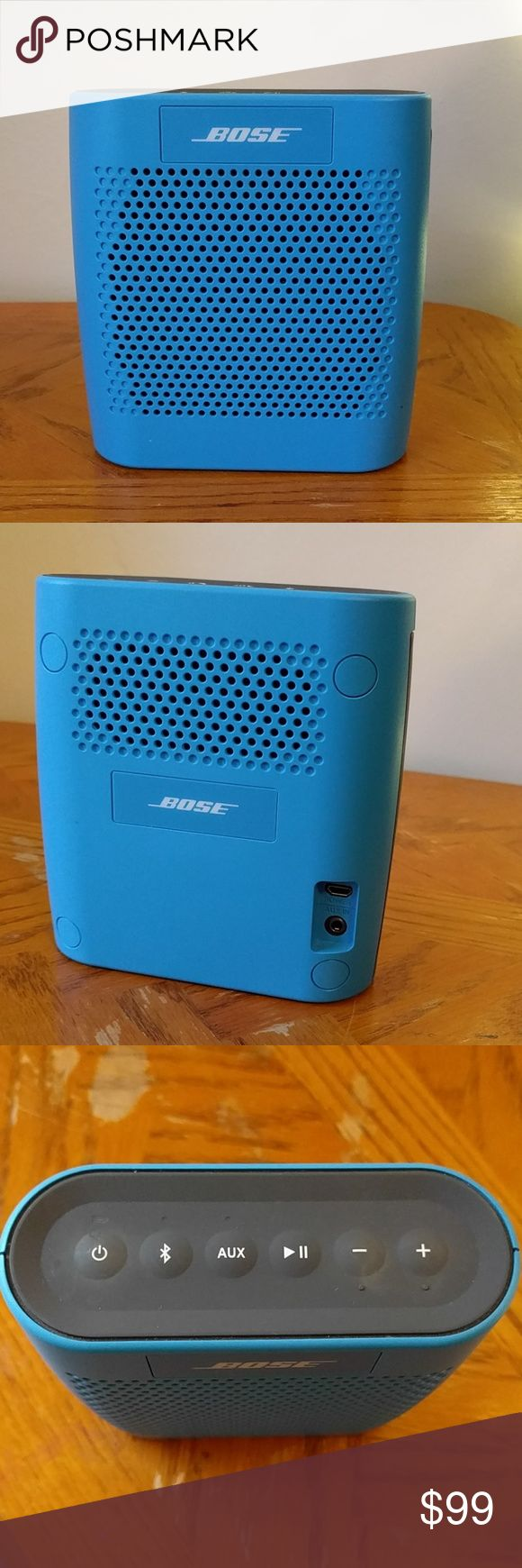 Price drop! BOSE Bluetooth Speaker Bose SoundLink Bluetooth Speaker. Used a handful of times, just no need for it anymore. Fully functioning, water resistant, holds charge for 6 hours. Also has aux cord option. BOSE Other