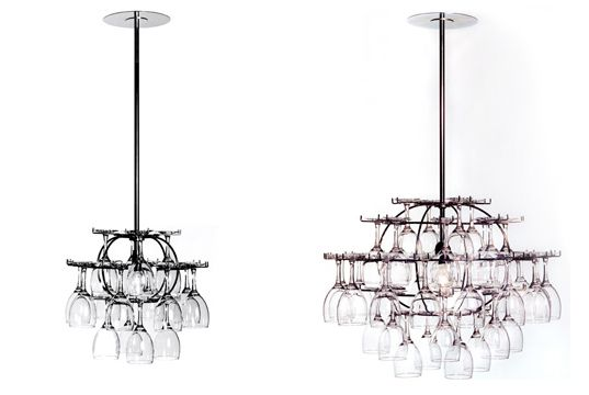 WINE GLASS CHANDELIER Wine Glass Chandelier, Glasklasen, Ljusklasen, Form Nasielsky, Chandelier Made From Wine Glasses – Inhabitat - Sustainable Design Innovation, Eco Architecture, Green Building