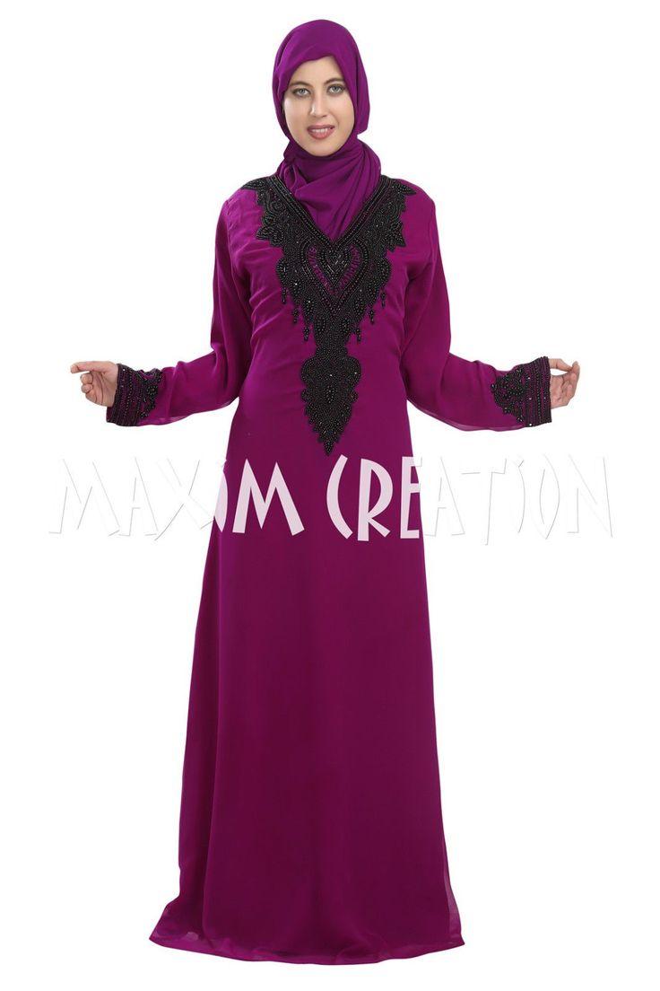 Fancy Islamic Arabian Party Wear Kaftan For Women By Maxim Creation 5340