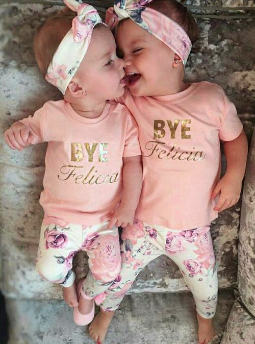 Cheap baby pink bunny costume, Buy Quality baby clothes free directly from China baby clothes party Suppliers: 2pcs Baby Kids Girls Clothes Sets Outfits Headband Tops T-shirt Floral Pink Pants Clothing Baby Girl 0-24