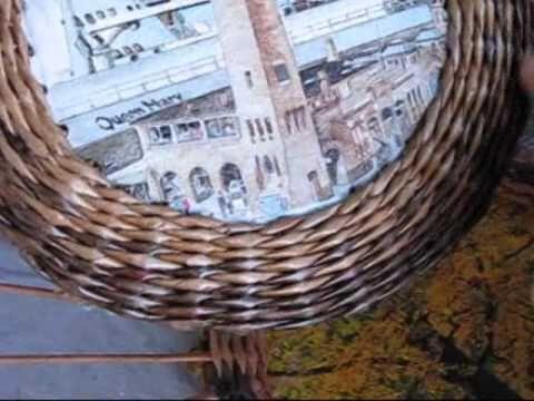 Плетение из газет рамки (видео)