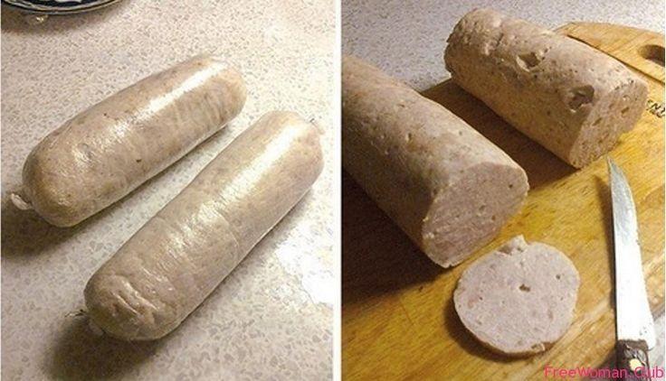 рецепты колбасы в домашних условиях, Домашняя варёная колбаса