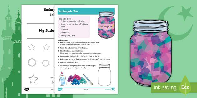 Ks1 Ramadan Sadaqah Jar Craft Activity Ramadan Eid Eid Ul Fitr Eid Ul Fitr Muslim Islam Qur An Assembly Ks1 Ke Ramadan Activities Jar Crafts Ramadan