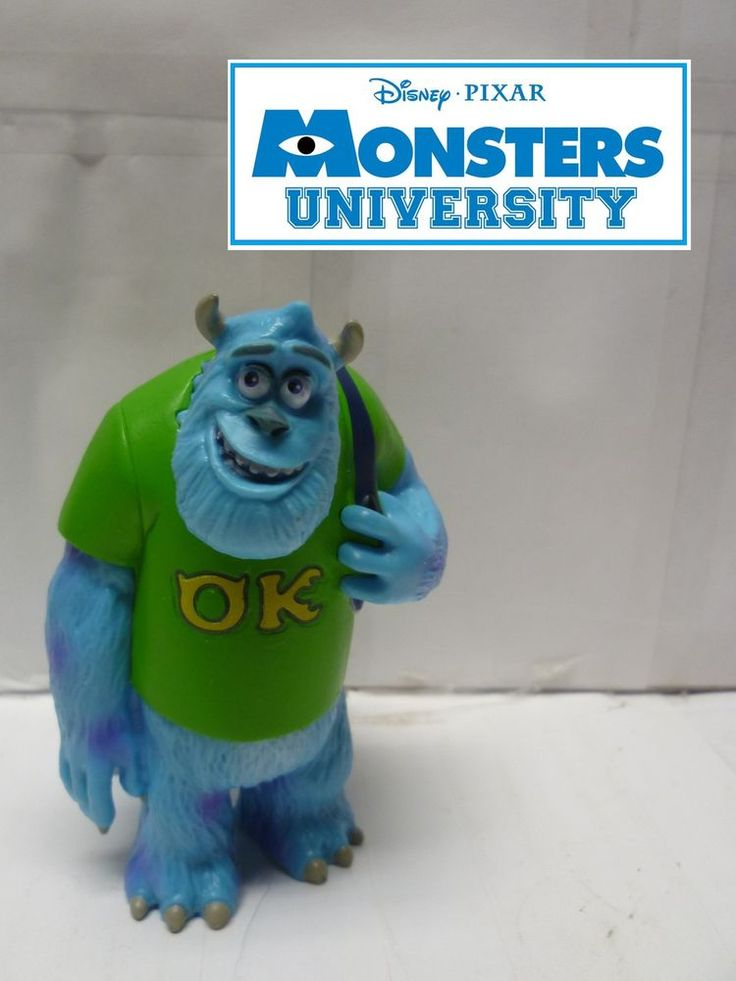Monsters University Disney Store Exclusive Sully Figure Loose & Hard to Find #DisneyStore