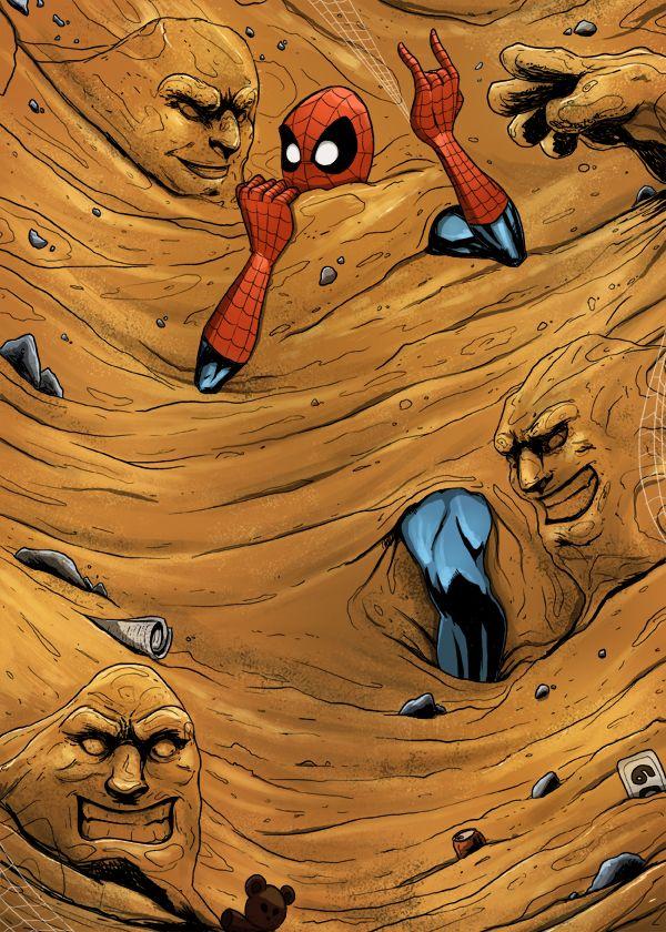 sandman spiderman looked like - 600×840