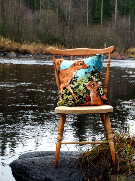 Pillow cover  Deer  by travelingpillow on Etsy, $42.50