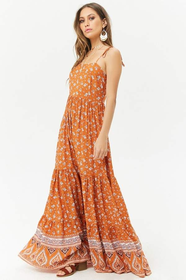 4ee8d70513d Gorgeous SUMMER MAXI DRESS! Forever 21 Floral Ruffle-Hem Cami Maxi Dress.   ad  boho  summer  maxi  dress  feminine  fashionista