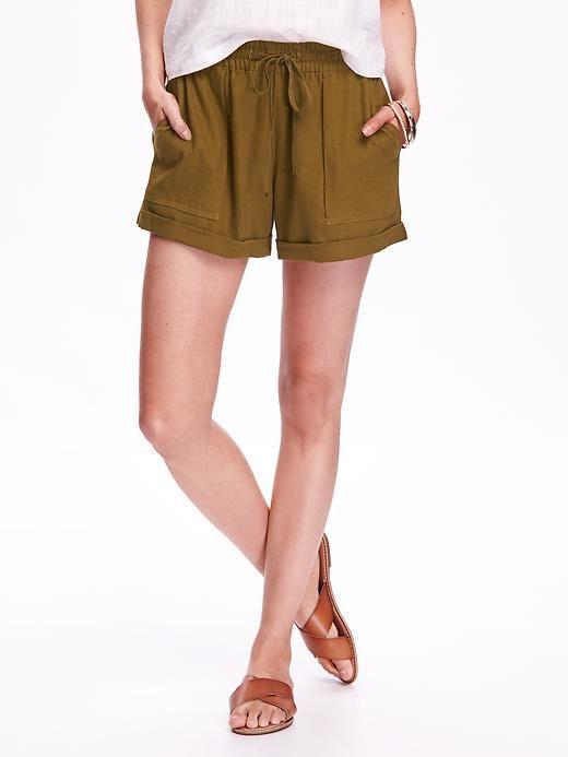 Cuffed Linen Shorts for Women (4-inch) – Gathering Moss
