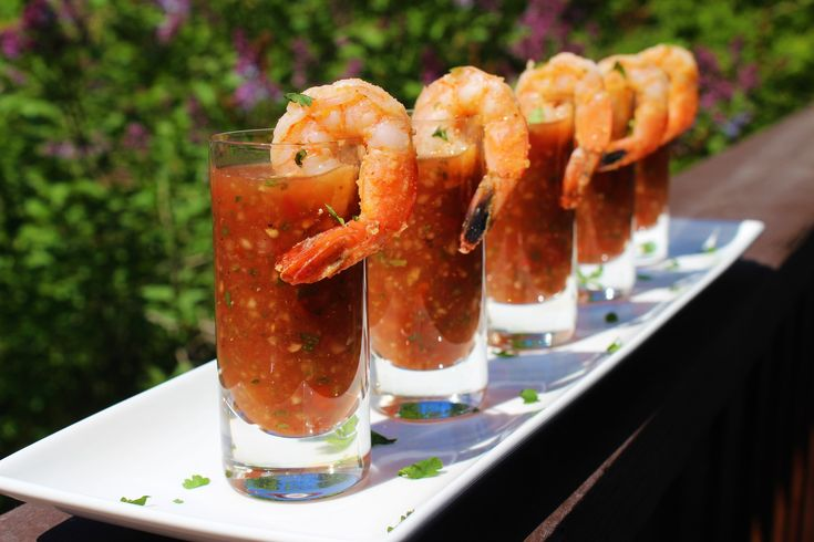 Shrimp Gazpacho Shooters
