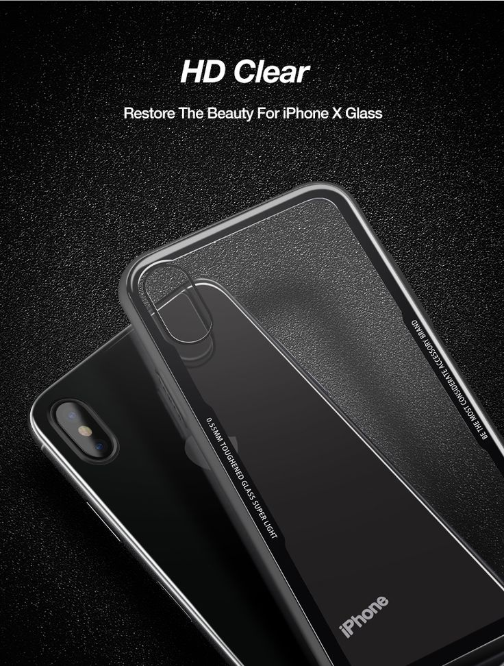 Bakeey™ Tempered Glass Clear Back TPU Frame Case for iPhone X/7/8 Plus