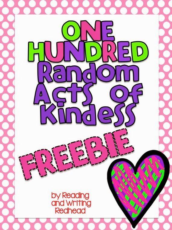 Classroom Freebies Too: Random Acts of Kindness