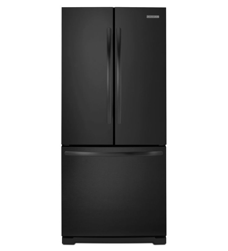 Matte black metal trend kitchenaid 20 cu ft standard for 6 ft wide french doors