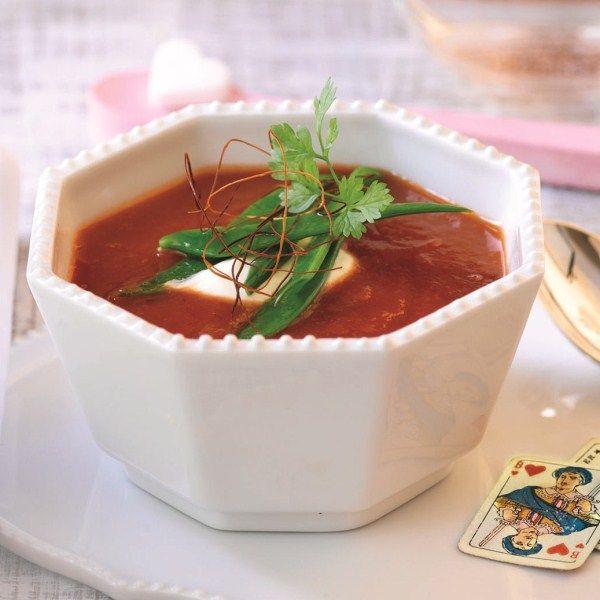 Tomatencappuccino met wodkacrème #WWrecept #WeightWatchers #soep