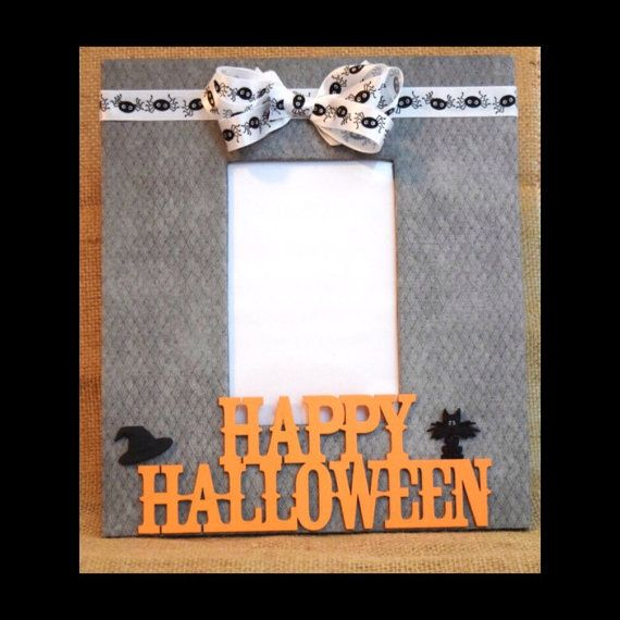 halloween picture frame halloween decor 4 x 6 by allmyadornments more