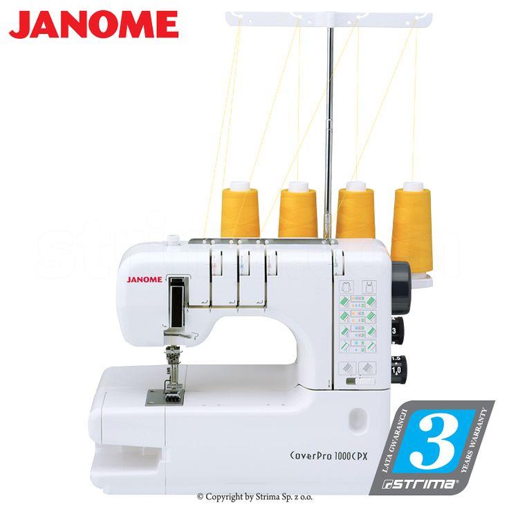 JANOME 1000CPX COVER PRO – Maszyna łańcuszkowa 3-igłowa (coverlock) - ścieg ozdobny drabinkowy