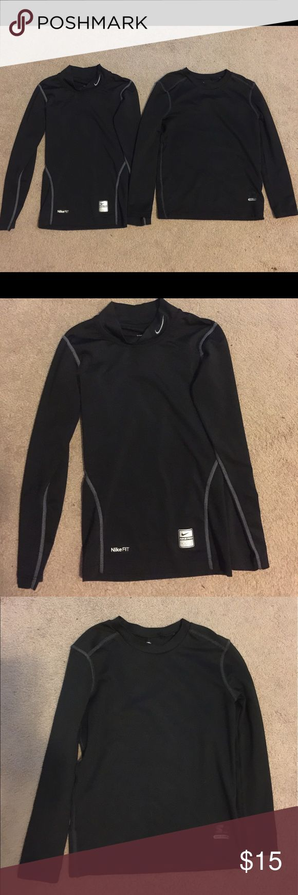 (2) Nike & Starter Dri-Fit long sleeve shirts 2) Nike & Starter Dri-Fit long sleeve shirts.  Can be used under soccer or football jersey during the winter.  Uni-sex. Both size 8 Nike Shirts & Tops