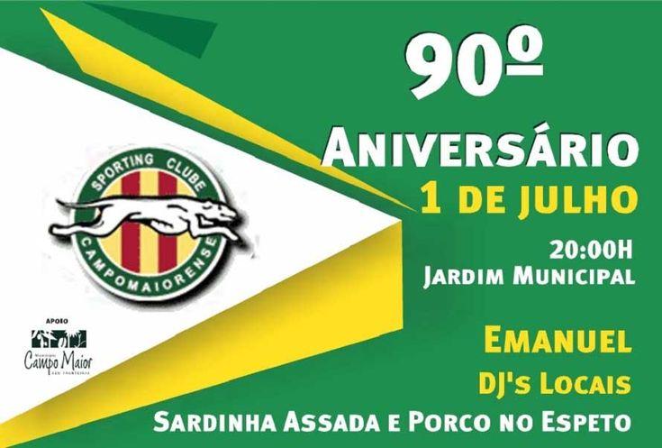 Sporting Clube Campomaiorense comemora 90º aniversário em festa com população   Portal Elvasnews