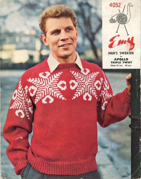 Vintage Christmas Jumper Knitting Pattern : 42 best images about Vintage Knitted Menswear on Pinterest Vintage knitting...