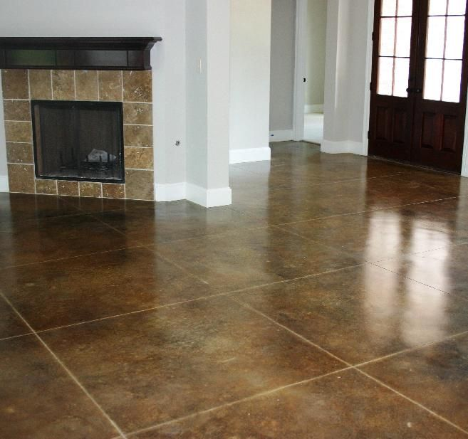 36 Best Images About Stained Concrete On Pinterest