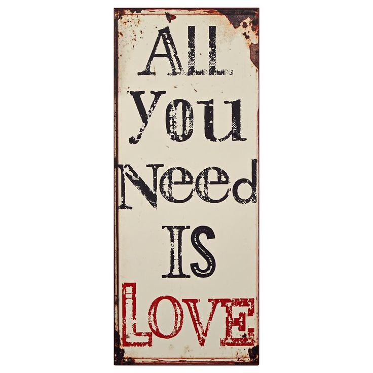 Décoration murale en métal - Love Is All You Need/Décorations murales en métal/Décor mural|Bouclair.com